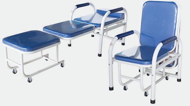 D10 钢制喷塑陪护椅(带扶手)